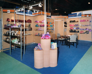 A small stand that needed to have a very large display area - low budget so made from our modular stock