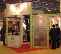 Angsana at the world travel market - again a bespoke stand completely constructed by in-house carpenters