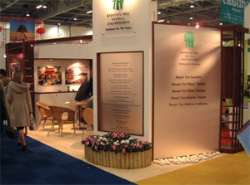Banyan Tree Resorts - custom built stand at World Travel Market London. Completely built using in-house carpenters.
